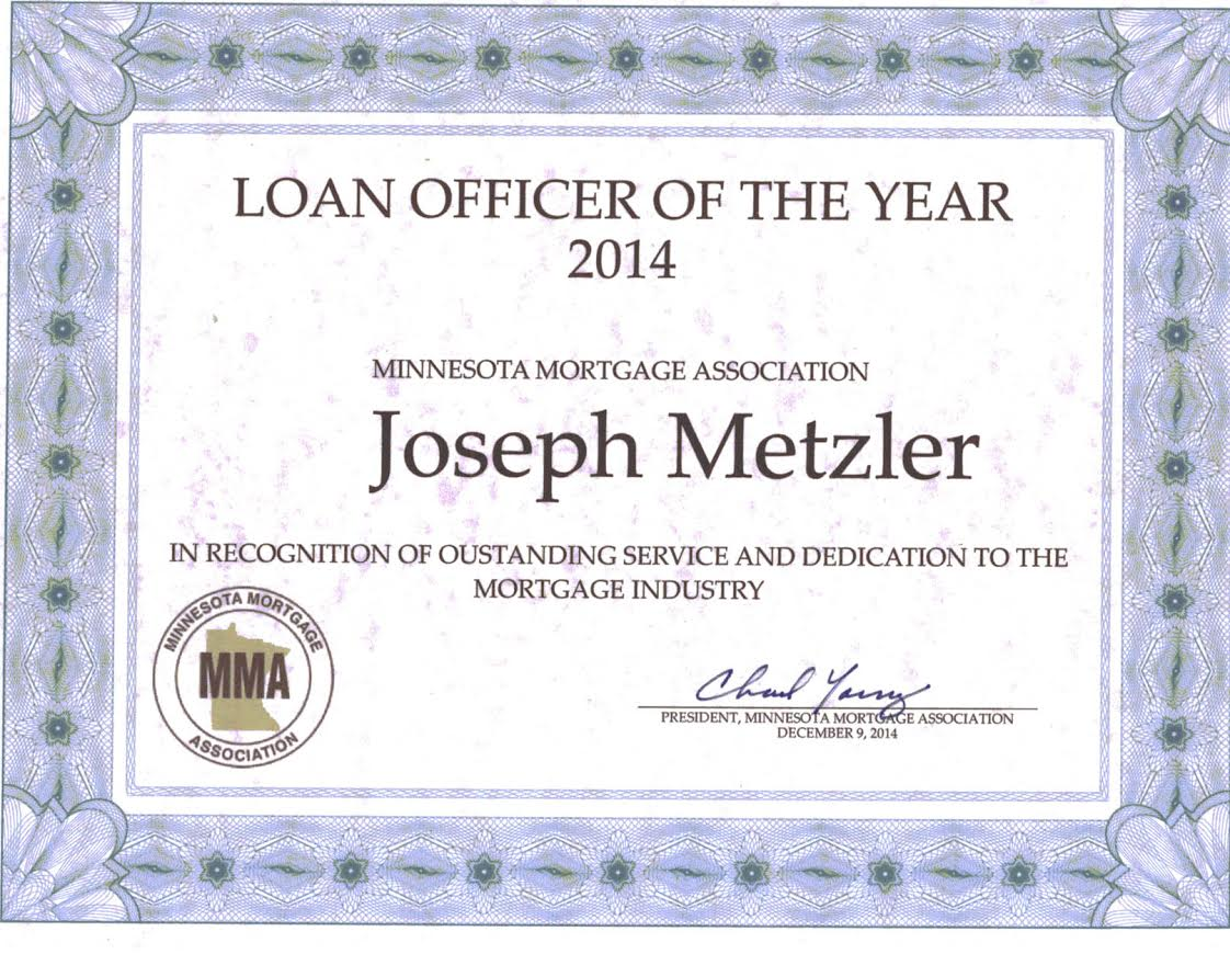 2014 Minnesota Loan Officer of the Year