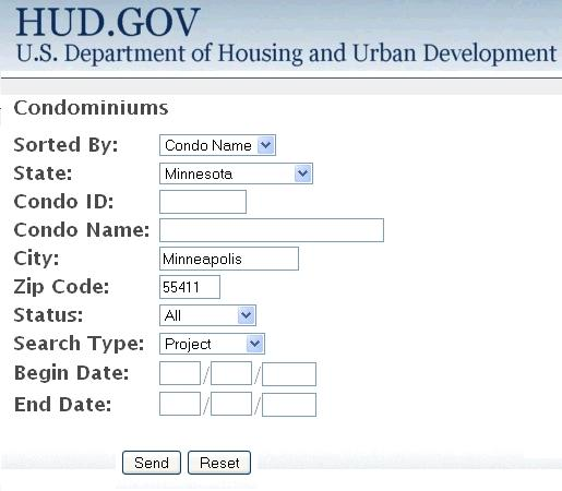 FHA Condo Association Approval Web site