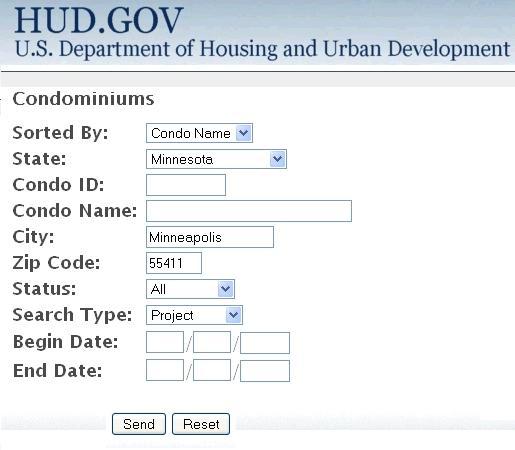 FHA Condo Association Approval Web site