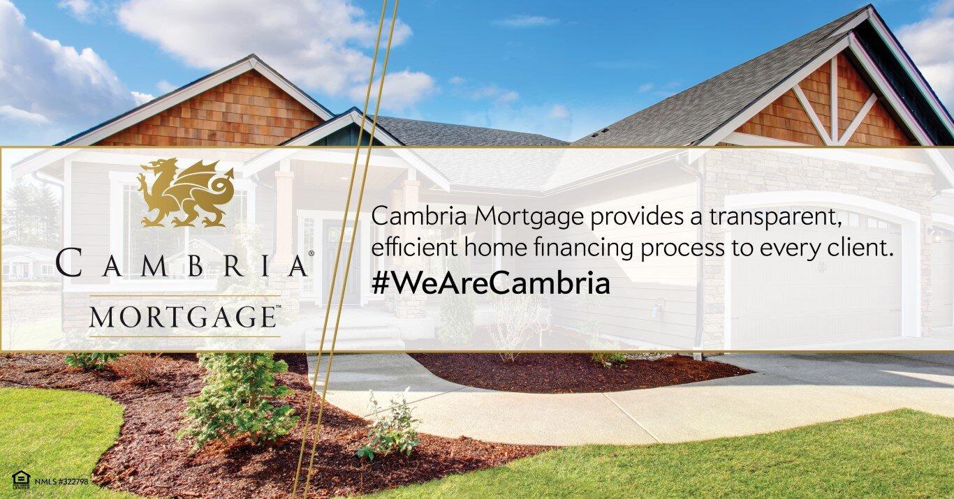 Cambria Mortgage provides a transparent mortgage loan process
