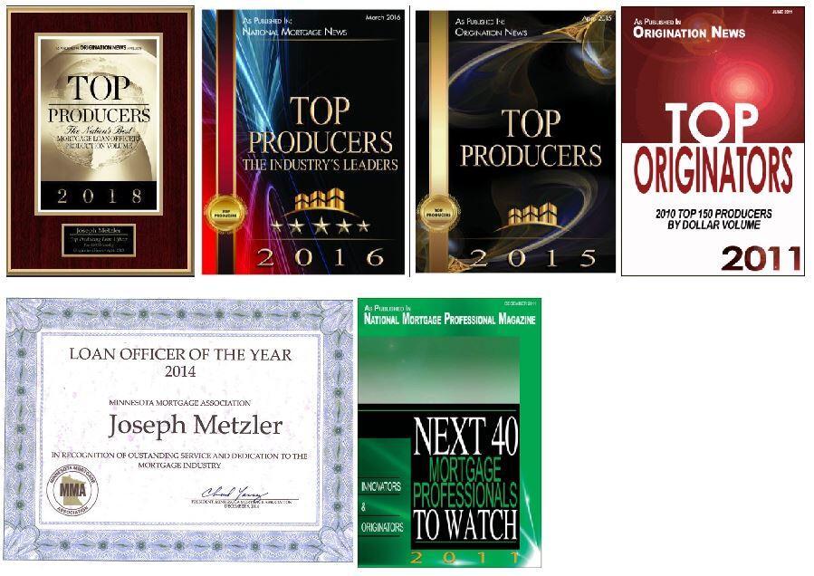 Joe Metzler, Mortgage Awards