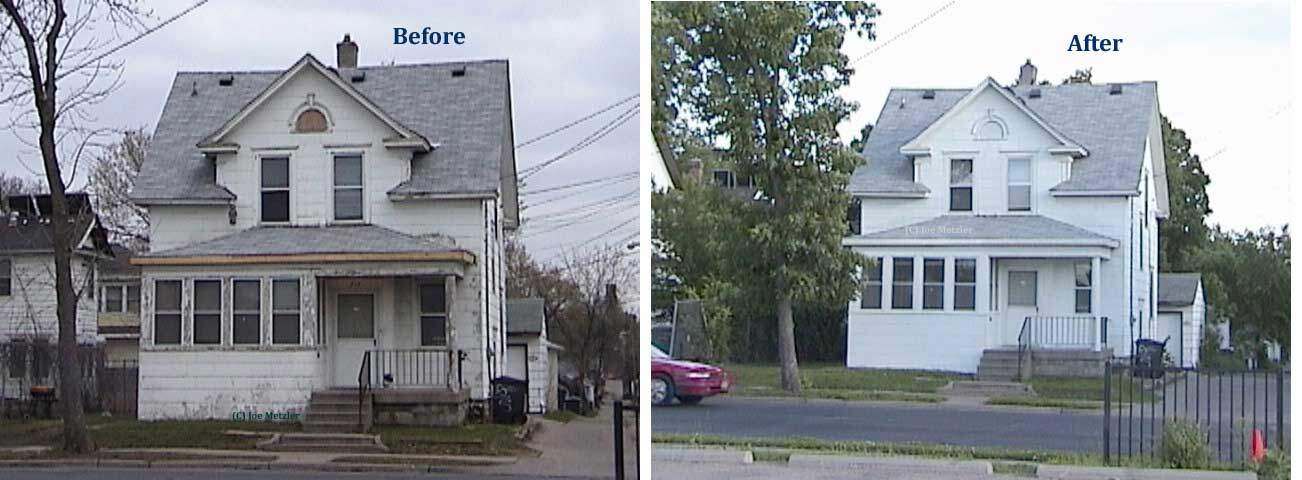 Homestyle renovation before and after