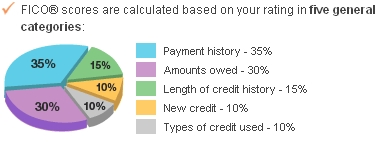 What makes up your credit score
